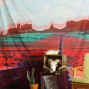 Trippy desert tapestry of Monument Valley